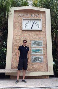 Miami Beach art deco clock with Felix Gottwald