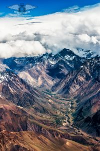 Andes mountain range in Chile.