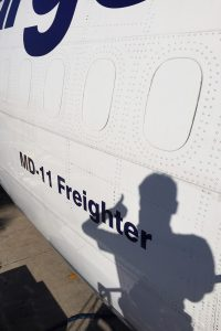 Thumbs up - ready for departure with a MD-11 Freighter