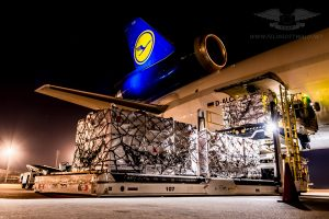 Lufthansa Cargo - MD11F - D-ALCD at Montevideo Airport MVD.