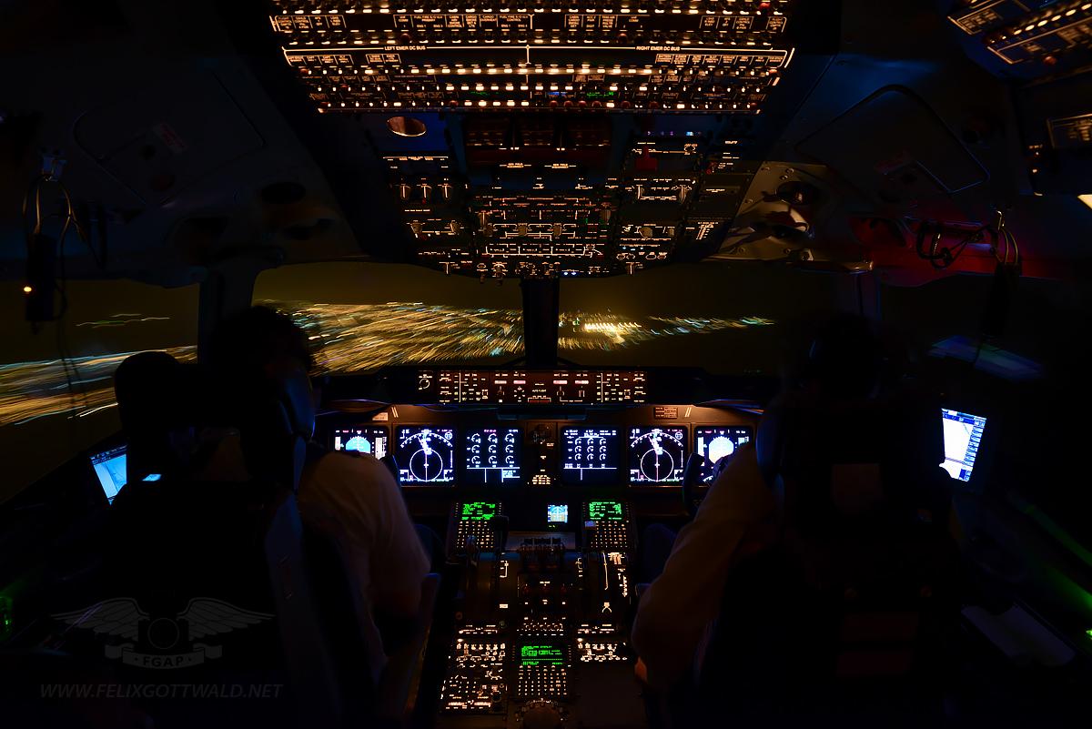 Onboard a MD-11F, approaching the western tip of Africa near Dakar, Senegal